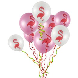 Wholesale Pc Par - 100 pcs lot Flamingo ball made of latex children's toys Birthday Wedding Baby shower Pool Party Decor Bachelor hen hen par 10 inch