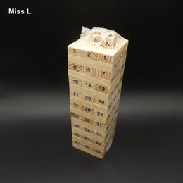 Wholesale Mini Son - Mini 48 Number Jenga Blocks Stack Up Giant Premium Hardwood Game Play With Sons And Daughters