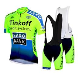Wholesale Saxo Bank Pink - 2016 saxo bank tinkoff Team fluorescence green cycling jersey short sleeve Ropa Ciclismo bicicletas maillot ciclismo