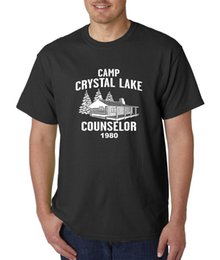 Wholesale Crystal Lakes - 2017 New Summer Men Hot Sale Fashion Camp Crystal Lake Counselor T-Shirt -Friday 13th Jason Voorhees Freddy Halloween