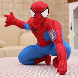 Wholesale Spiderman Models Kids - 2 Styles 30cm Spiderman Plush Toys Action Figure Collectible Model Toys Cartoon Spider-man Plush Doll for Boys Kids Doll