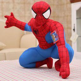 2 Stilleri 30 cm Spiderman Peluş Oyuncaklar Action Figure Koleksiyon Model Oyuncaklar Karikatür Örümcek-adam Peluş Bebek Erkek Çocuklar için Bebek nereden sallamak kafa arabası tedarikçiler