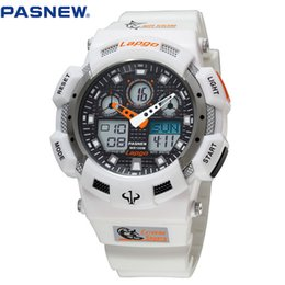Wholesale Mens Waterproof Swimming Watches - Wholesale-2016 New PASNEW 100m Waterproof sport watch diving swimming men sports watches relogio masculino clock mens sports