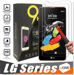 Wholesale Screen Protection - For iphone 8 LG Avisto G6 V20 Tempered Glass LG Stylo 2 Plus Screen Protector for LG K7 K10 Tribute 5 clear film protection with 9H 0.26mm