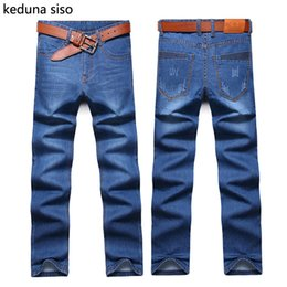 Wholesale Men Jeans China - Wholesale-2016 New Style Men Jeans Pant Casual Denim Straight Design Biker Jeans Blue Cheap China Brand Clothing Fog Jeans homme masculino