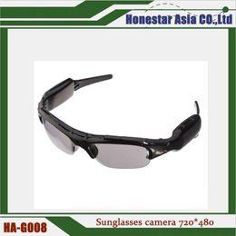 Wholesale Spy Hd Video Camera Sunglasses - Lower price 720*480 HD Spy sunglasses camera sport glasses camera DV DVR Camcorder mini video recorder sunglass spy cameras