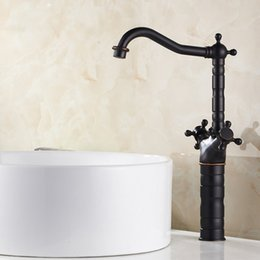 Wholesale Oil Rubbed Bronze Widespread Faucet - Free shipping American standards Antique Widespread Double Handle One Hole with Air Babble Former in Oil-rubbed Bronze Bathroom Sink Faucet