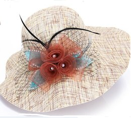 Wholesale Cool Top Hats - Cool Women Straw Hat Outdoor Top Hats Summer Wide Brim Fashion Beach Sun Hats Colors Choose