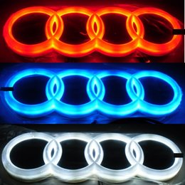 Wholesale Audi A4 Front - 4D Car Emblem Car Logos Badge Light Case for Audi Front and Rear Replacement DRL Red Blue White option