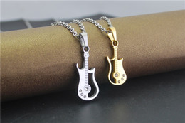 Wholesale Classical Music Free - Charm Classical music violin necklace couple pendant cheap brief paragraph collarbone chain accessories jewelry gift 3pcs free shipping