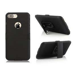 Wholesale Iphone Camo Case Clip - Clip Belt Hybrid Hard PC Case For Iphone 7 I7 Plus 6 6S SE 5 5S Camo 3 in 1 Rubberized Stand Shockproof Cell Phone Skin Cover Fashion 150pcs