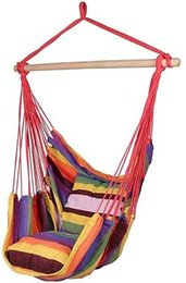 Wholesale Deluxe Swing - Deluxe Hanging Rope Chair Outdoor Porch Swing Yard Tree Hammock Cotton Polyester