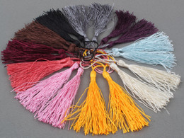 Wholesale China Curtains Wholesale - China style Mixed Color Silky Fringe Decorative Tassel new DIY Accessories for Garment Curtain Jewelry Home craft Charms