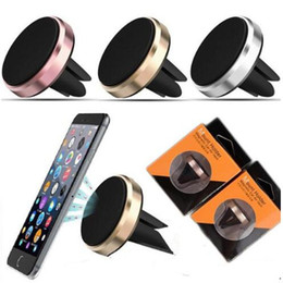 Wholesale Iphone Auto Mount - Universal Auto Car Mini Air Vent Mount Mobile Magnetic Phone Holder Handfree Dashboard Phone Metal Stand For iPhone 7 Samsung