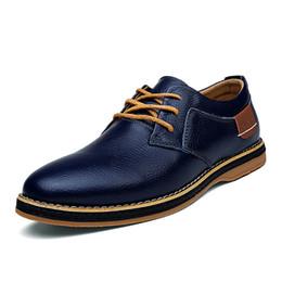 Wholesale Dress Up Men - New 2016 Men Dress Shoes Lace Up Black Oxford Shoes For Men Flats Genuine Leather Fashion Men shoes