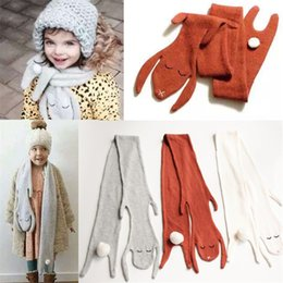Wholesale Lovely Wholesale Scarfs - Winter warm Boys and girls baby cashmere scarves children Scarf Rabbit kids neckerchief lovely bunny baby scarve scarf K585