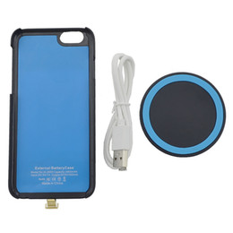 Wholesale Charging Cell Case - 2800mAh Rechargeable Battery Wireless Charging External Battery Case for iPhone 6 6S 4.7inch Cell Phone Power Case