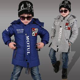 Wholesale Cotton Padded Jacket Baby - Baby & Kids Clothing Outwear Coat 2016 winter Fashion boys Casual Hoodie long sleeve cotton-padded coats jacket Free shipping