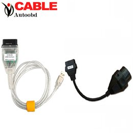 Wholesale Bmw D Can - Wholesale-Quality A ++ for bmw INPA K+DCAN CABLE USB Interface K D-CAN Connector INPA K+DCAN Cables+B-M-W 20PIN Cable Inpa cable