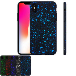 Wholesale Iphone Case Bling Starry - Starry Sky Star Phone Case for iPhone X 8 7 6 5s Plus Hard Back Cover Scrub Bling Protective