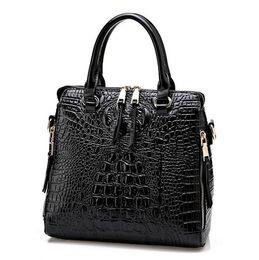 Wholesale Yellow Leather Clutch - 2016 New Fashion Women Lash Package PU Leather Bags Crocodile Pattern Handbag Shoulder Crossbody Bag Clutch Bag Free Shipping