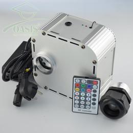 Wholesale Optic Speed - 32W 220v 4 level-speed Twinkle RGB fiber optic led light engine +28key RF remote
