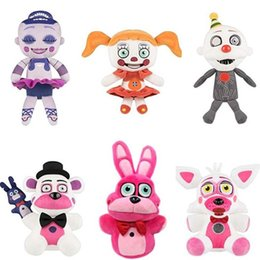 "Wholesale Movie Night Gift - Hot New 6 Styles 7"" 18CM Five Nights at Freddy's Plush Ballora Circus Baby Ennard Bonnie Freddy Foxy Dolls Stuffed Best Gifts Soft Toys"