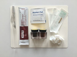 Wholesale Eyebrow Pigment Kit - Microblading accessories Permanent Makeup Eyebrow Tattoo Needle Pen Ink Practice skin pigment ring kit with 3pcs Needles