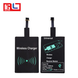 Wholesale Wireless Charging For Iphone - Universal Qi wireless charger receiver module fast speed charging adapter for samsung galaxy S3 S4 S5 iPhone 5 6S 6SP