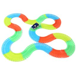 Wholesale Led Vehicle Car Day - 220PCS Racing Car Glow Twister Racing Tracks Vehicle LED DIY Racing Track Assembly Flexible Car Toys Gifts for Kids