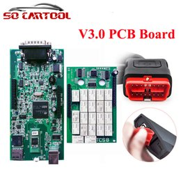 Wholesale New Cdp Plus Quality - 10pcs Green PCB Quality A+ TCS CDP PRO PLUS NEW VCI Diagnostic Tools With Bluetooth For Cars & Trucks 2015 R3 2014.R2 DHL Free