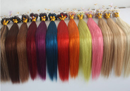 Wholesale Dark Auburn Micro Ring Extensions - 5A Grade 10-28'' Silky Straight 0.5g*200s Black Brown Blonde Mixed Ombre Color 100% Indian Remy Human Hair Extensions Loop Micro Rings