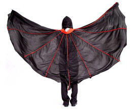 Wholesale Ghost Suit - J-04 Death Cloak Cosplay Ghost Clothes Black vampire Cape Hooded Cloaks Halloween Costume For adult Ghost mask and cloak full set