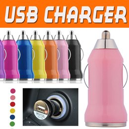 Wholesale Wholesale Micro Usb Car Chargers - Micro USB Charger Car Chargers Universal Bullet Portable Adapter For iPhone X 8 7 Plus 6 6S 5 5S Samsung S8 S7 Edge Note 8 PDA MP3 MP4