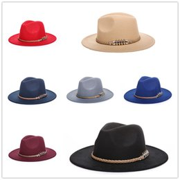 Wholesale Cowboy Hat Fit - Fashion Unisex Autumn Winter Straw Braid Wide Large Brim Cowboy Jazz Felt Hat Cap