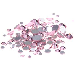 Wholesale Strass Crystal Shoes - Non Hotfix Crystal Rhinestones Light Rose SS3-SS10 And Mixed Size Flatback Glue On Strass Stones DIY Clothes Bags Shoes Supplies