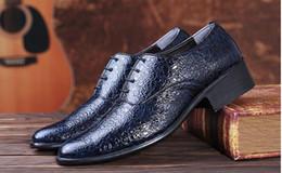 Wholesale White Suit Shoes Men - 2016 New Crocodile Grain Men Shoes High Quality Genuine Leather Shoes Men Business Suits Summer Male Leather Dress Men Shoes