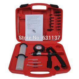 Wholesale Automotive Hand Tools Set - Wholesale-Free Shipping Automotive Car Repair Vacuum Pressure Brake Bleeder Bleeding Pressure Vacuum Hand Pump Tool Set Kit