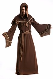 Wholesale Hot Clothes Stores - Men's Halloween Costume Role-play Sorcerer Magician Pharaoh Cosplay Costumes Clothes Church Christian Scary Devil Costume Very Hot In Store