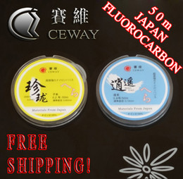 Wholesale Japan Tackle Free Shipping - Nylon Fishing Line 50m Japan Material Thread Mainline Tippet Fishing Tackle Strong Monofilament Fluorocarbon Fish Equipments FREE SHIPPING