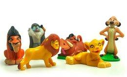 Wholesale Lion King Action Figures - 6pcs set Cartoon Anime The Lion King 3-5cm Toy Figures Fashion PVC Robot Action Figure Collectible Model Kids Toys