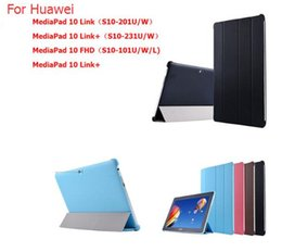 Wholesale Tablet Huawei Mediapad Fhd - Ultra Slim Stand For Huawei Mediapad 10 Fhd Case Tablet Pc Cover For Huawei Mediapad 10 Link S10-201U W S10-231U W Case+pen