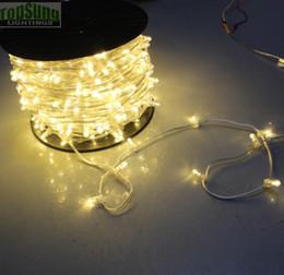 2019 lâmpadas de jardim conduzidas 12v 100 m carretel 12 V natal levou corda de árvore luz clipe de cristal luzes 666 lâmpadas cuttable para festa de casamento decoração do jardim desconto lâmpadas de jardim conduzidas 12v