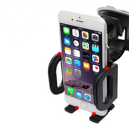 Wholesale Kinds Cell Phones - 360 Degree Cell Phone Car Mount Universal Car Holder Windshield and Air Vent two Kinds Bracket Stands for iPhone 6 6 Plus Smartphone