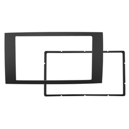 Enquadra o foco on-line-LEEWA 2DIN Carro Remontando Quadro de DVD Do Painel Traço Kit de Rádio Fáscia Quadro de Áudio para 06 Ford Focus Transit # 1693