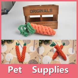 Wholesale Fall Toys - Free Shipping New Adorable Pet Chew Toy Straw Carrot Rabbit Animal Supplies Maize Pets Cat Dog Products 16090805