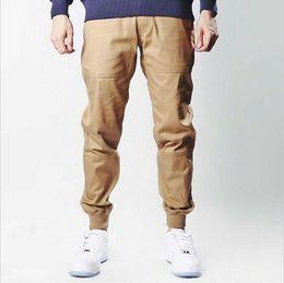 Wholesale Men High Fashion Dress Clothes - mens urban clothing M-2XL unisex khakis dress jogger pants fashion high quality skinny publish black navy green khaki joggers