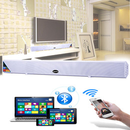 Wholesale Computer Phone Systems - Wholesale- Bluetooth TV Sound Bar Home Theater System Surround Sound HI-FI Wireless Wall Big Speaker Subwoofer For TV Mobile Phone Computer