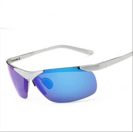 Wholesale ultralight glasses frames - NEW brand Sunglasses for Men's Women's plastic half frame Multicolor sun glasses Ultralight outdoor riding sport Bike PC Retro drive Safety