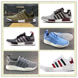 Wholesale Red Light Tanning - Triple Black Champs Exclusive NMD R1 Runner PK Shoes Men Women Packer NMD R2 W Boost Trainers Sneakers With Boxes Size US5--11 Hot Sale